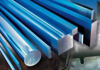 A picture of A-2 tool steel, D-2 tool steel and S-7 tool steel in round bar, square bar and flat bar shapes.